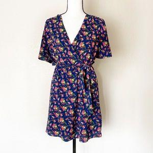 Monteau Floral Wrap Dress